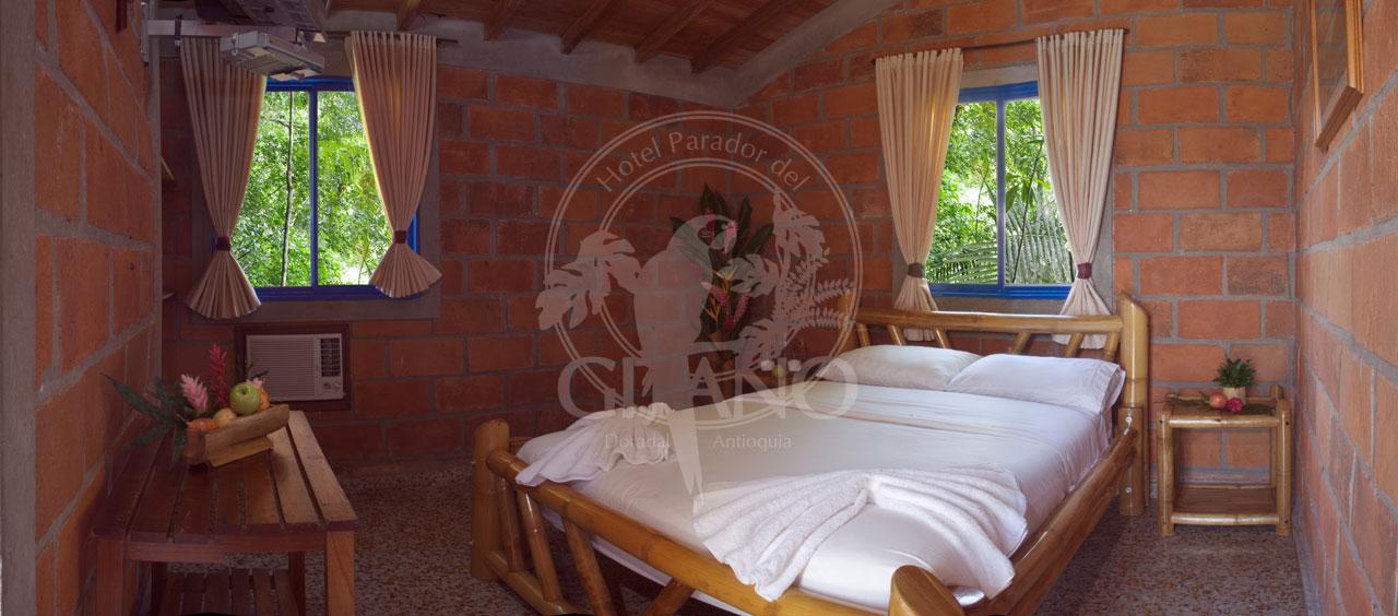Habitación doble - Hotel & Restaurante Parador del gitano - Nápoles - Doradal - Rio claro
