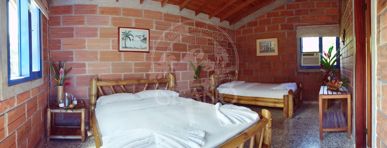 Habitación triple - Hotel & Restaurante Parador del gitano - Nápoles - Doradal - Rio claro